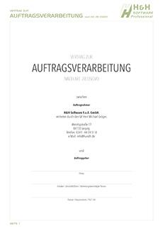 Vertrag Zur Auftragsverarbeitung Nach Art 28 Dsgvo Hh Software